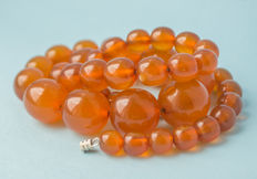 Vintage Baltic Amber necklace, old honey butterscotch Amber, 52 gram