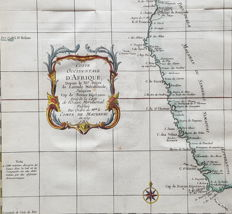 South Africa, South-West Africa, Cape Good Hope; Nicolas Bellin - Coste Occidentale d'Afrique (...) - 1739