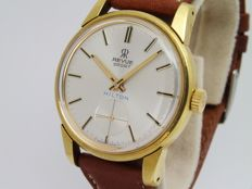 revue classic gold plated wrist watch men 1960 nice