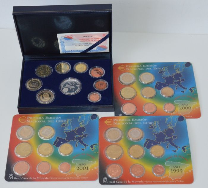 Spain - Year collection 1999-2002 (4 varieties)