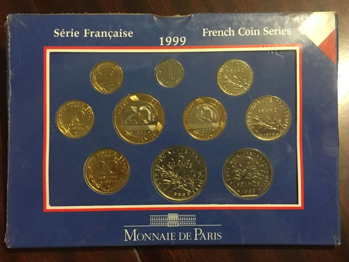 France - Monnaie de Paris - 1999 BU case (10 coins)