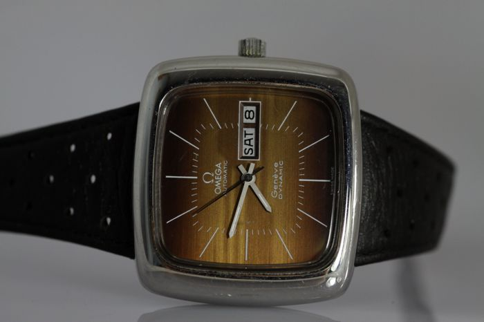 Omega Genève Dynamic TV, rare automatic watch, 1970s