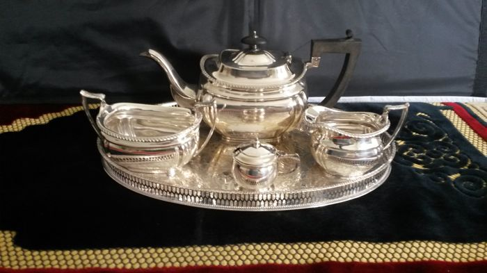 Martin hall & Co 1854 \1866 silver plated tea set made in England.
