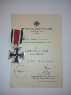 Iron Cross 2nd class with certificate