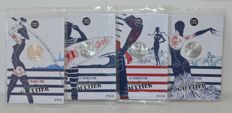 France - 10 Euro 2017 'Jean Paul Gaultier' in blister pack (4 coins) - silver