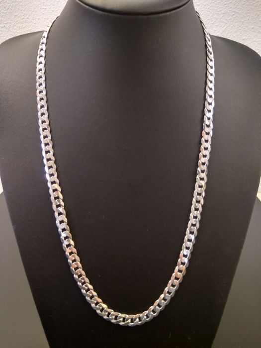 Silver necklace, 925, length:  60 cm, width:  8 mm, weight: 43 g