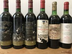 Vintage 1982 :  Mix of Different Bordeaux Wines - Total 12 Bottles