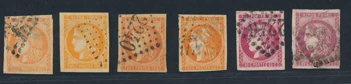 "France 1871/1872 - Collection lot of  ""Cérès and Bordeaux"" - Between Yvert n° 36 and 49"