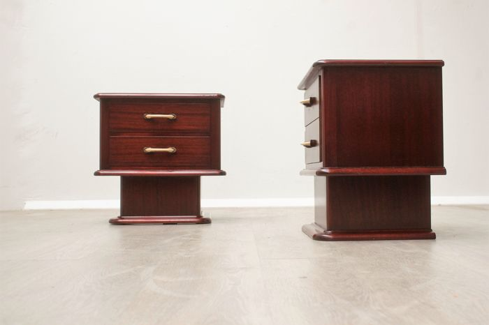 Designer unknown – set of vintage nightstands