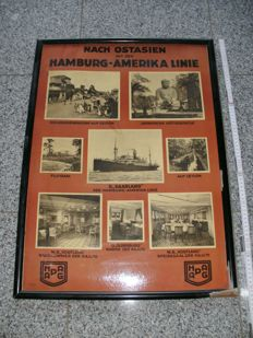 Advertising sign - Hamburg-Amerika Linie HAPAG - Germany ca. 1910