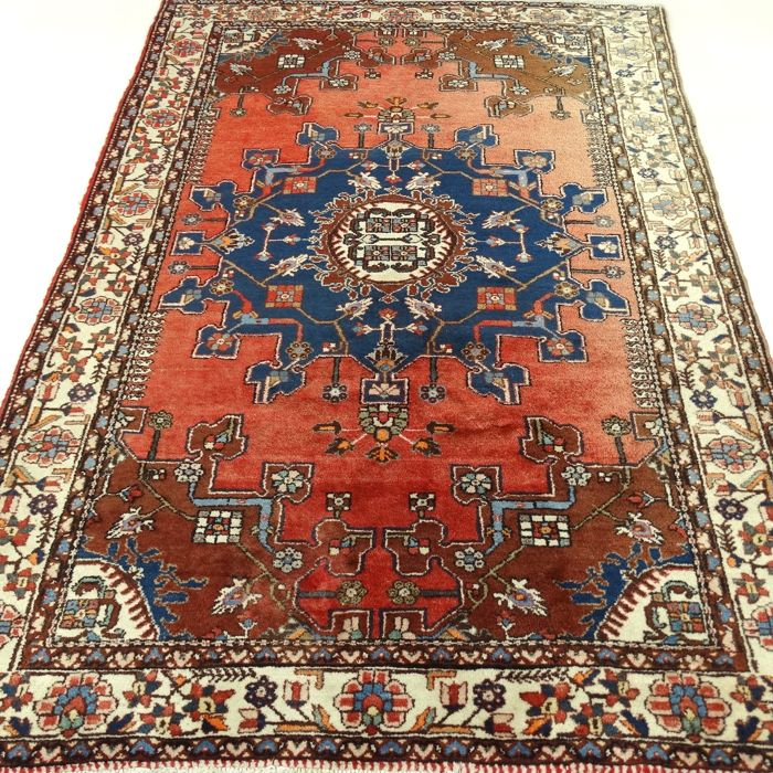 "Hamadan – 201 x 140 cm – ""Persian carpet in beautiful, virtually unused condition"" – With certificate"