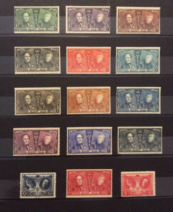 Belgium 1924/1942 - set of stamps - COB 221 to 602