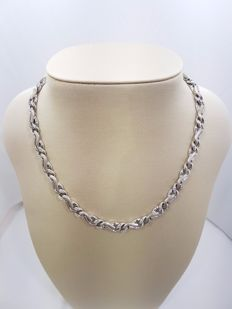 18ct White Gold Necklace with Diamonds, Weight 94,9grs, Length 46cm