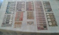 Spain - Banknotes from the Spanish Republic and ration book