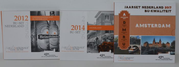 Netherlands - Year packs 2012, 2014 and 2017 BU
