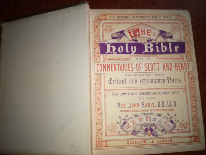 The National illustrated Family Bible - 1864