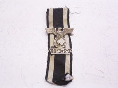 1939 Iron Cross 2nd class repetition clasp  Class 1914 (1st form) silver-plated non-ferrous metal