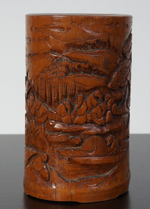 Bamboo brush jar - China - late 19th century