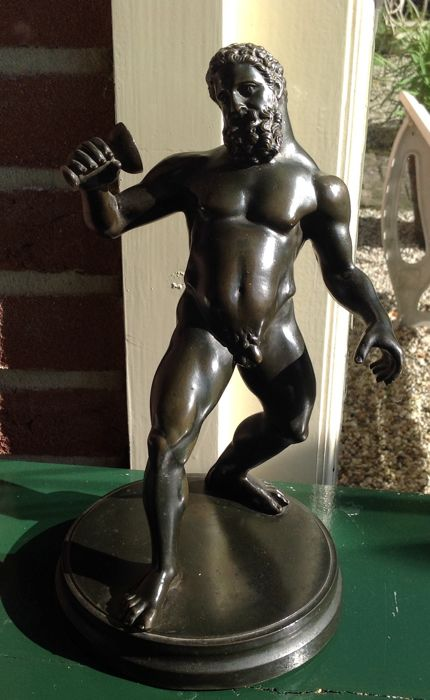 Silenus - patinated bronze sculpture - Grand Tour Object - 19th century