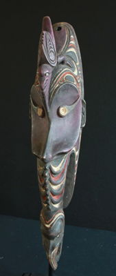 Rare Mwai Mask of the Papua AIBOM, the Yatmül Language Group of Papua New Guinea