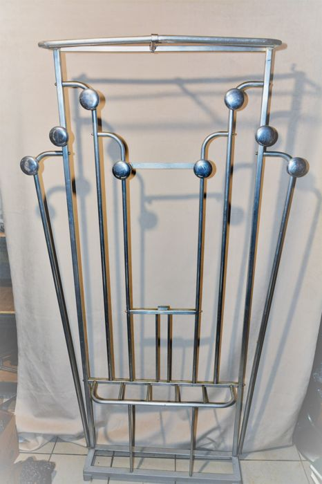 Art Deco Coat Rack Chrome Metal Height 4040 M Catawiki Inspiration Standard Coat Rack Height