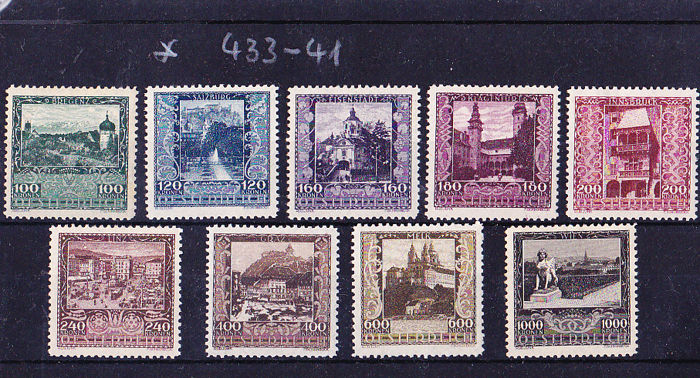 austria 68 stamps from 1919 1937 in sets ank 2016 no 228 657 on 6 plug in cards catawiki. Black Bedroom Furniture Sets. Home Design Ideas