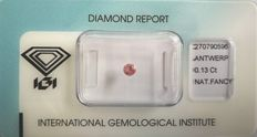 Natural Fancy Intense Pink Diamond 0.13 ct  with IGI cert *** no minimum price***