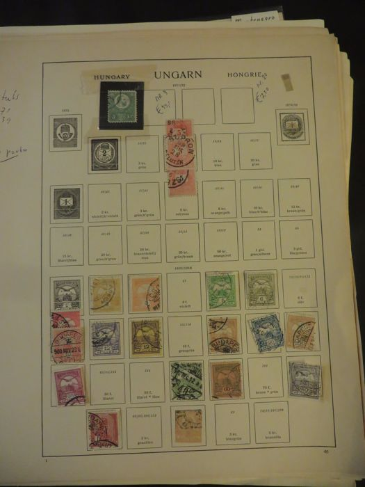 Yugoslavia, Hungary, Austria - Batch, etcetera, mostly  classic on separate sheets.