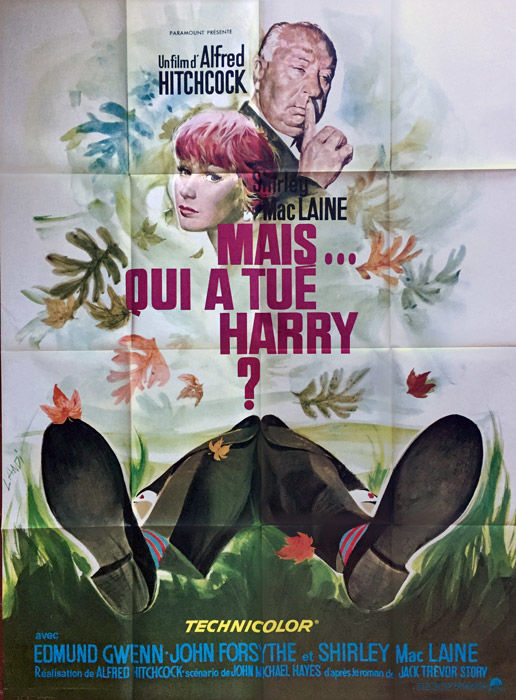 Mais qui a tué Harry? / The trouble with Harry - Affiche de cinéma française - circa 1970 - Alfred Hitchcock