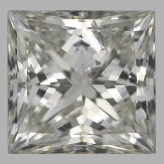 Princess  Brilliant 0.50ct  H SI2 - EGL USA WITH UGS APPRAISAL -original image-10X serial#2097