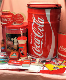 Collection of over 20 Coca-Cola items of various age