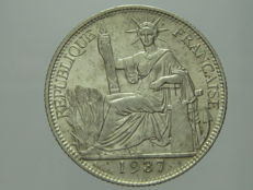 French Indochina – 20 Cents 1937 – Silver.