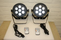 Set led par spots (2 pieces)
