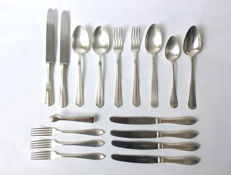 A lot of various silver and silver plated cutlery