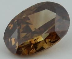 0.42 ct. Oval Modified Brilliant Natural Diamond -  Fancy  Brown- SI 1