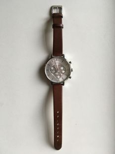 Olivia Burton Chrono Detail Sunray Brown and Silver - Dames horloge - 2015