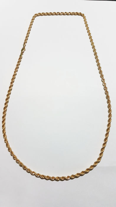 Salomonic style cord chain in 18 kt gold – Length:  Length: 60 cm