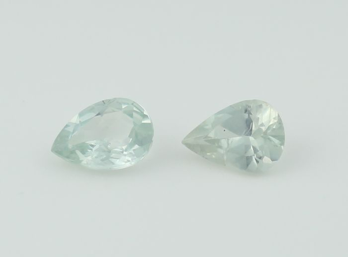 Set of 2 Alexandrites - 0.63 + 0.64  = 1.27 ct. - no reserve price