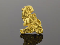 Gold nugget natural - 15.8 x 11.3 x 4 mm -  15.53 ct