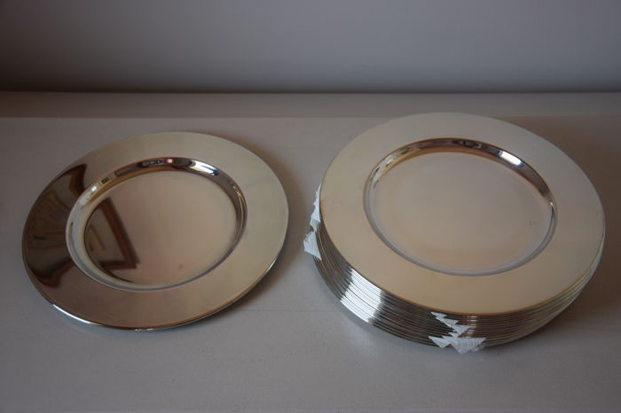 JOB ART - 12 silver plated plates/placemats