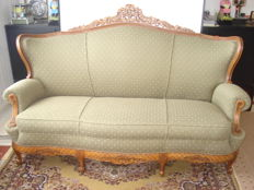 A Louis XV style day bed, second half of the 20th century