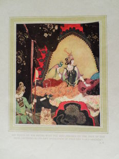 Lot of 2 special editions illustrated by Edmund Dulac, Arthur Rackham and others - 1915