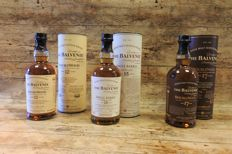 3 bottles - Balvenie 12yo Doublewood - 15yo Single Barrel Sherry Cask - 17yo Doublewood Sherry oak  - in original tubes