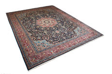 Hand-knotted signed Persian carpet - Kerman 397 x 302