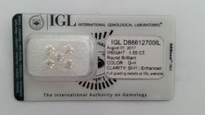 1.55ct  5  Diamond  G-H SI-I1   Diamond IGL  -NO RESERVE