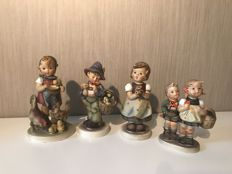 Nice collection of 4 Hummel sculptures, in excellent condition