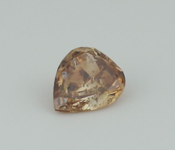 0.40 ct. Pear Brilliant Natural Diamond -  Fancy Brown - SI 2