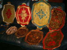 Nine Venetian trays - Italy - second half of the 20th century, Italy