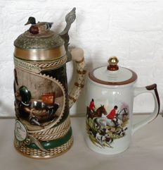 Vintage beer mug Ducks Unlimited Stein Bert Graves Mallards by Donald Boncela + Vintage beer mug as a cigarette holder.