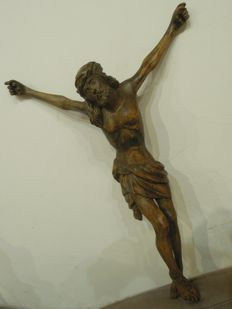 Corpus Christi - wooden sculpture of Christ, Italy, late 19th-century